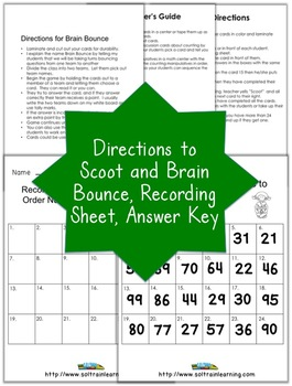 Math Scoot Game for Earth Day-Ordering Numbers 20-100