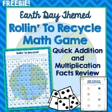 Earth Day Math Game, Addition, Multiplication Facts, 100's Chart Review