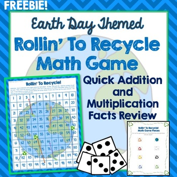Earth Day Math Game Addition Multiplication Facts 100s Chart Review