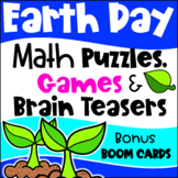 Earth Day Math Activities - Games, Puzzles and Brain Teasers