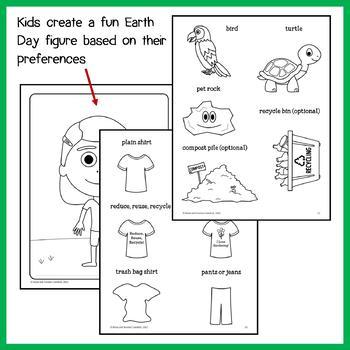 Earth Day Math Goofy Glyph (4th grade Common Core)