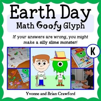Earth Day Math Goofy Glyph (Kindergarten Common Core)