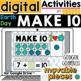Earth Day Math Make 10 - Digital Activity for Google Class