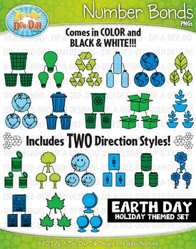 Earth Day Math Number Bonds Clipart {Zip-A-Dee-Doo-Dah Designs}