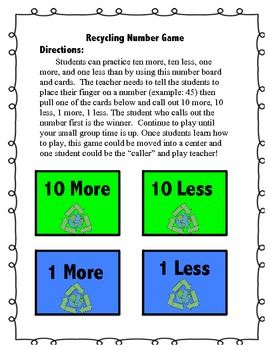 Earth Day Math Practice and Common Core Game With Assessments