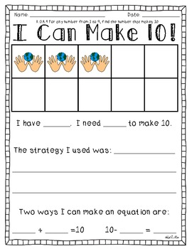 Earth Day Math Printables {Common Core Aligned}