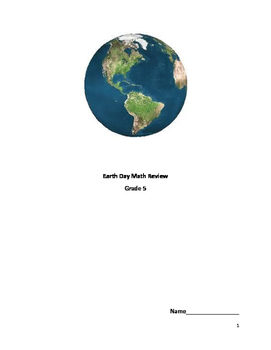 Earth Day - Math Review