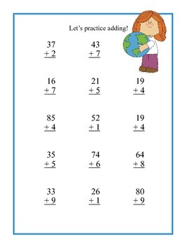 Earth Day Math Review -Addition and Subtraction With & Without Regrouping