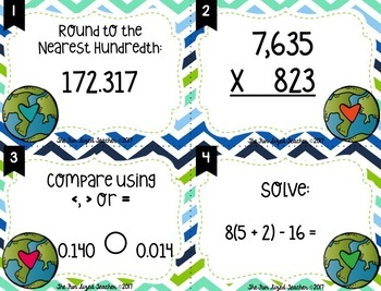 Earth Day Math Task Cards(or Scoot!)