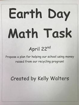 Earth Day Math Task Unit