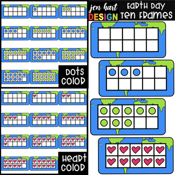 Earth Day Math Ten Frames Clip Art {jen hart Clip Art}