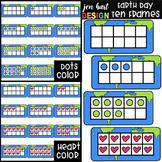 Earth Day Math Ten Frames Clip Art {jen hart Clip Art}