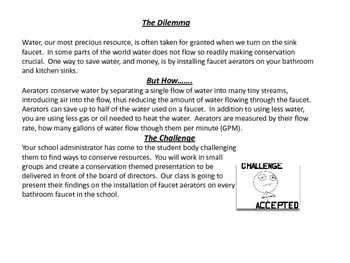 Earth Day Math: The Algebra of Water Conservation
