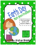 Earth Day Math Word Problems (cards and record sheets)