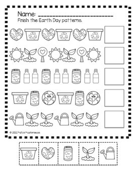 Earth Day Math Worksheets - Counting, teen numbers, patterns!