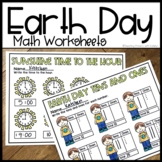 Earth Day Math Worksheets for First Grade