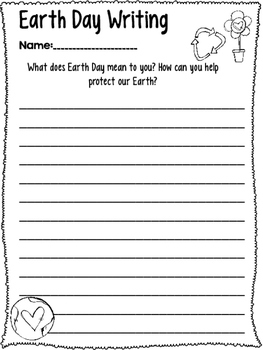 Earth Day Math and LA activities