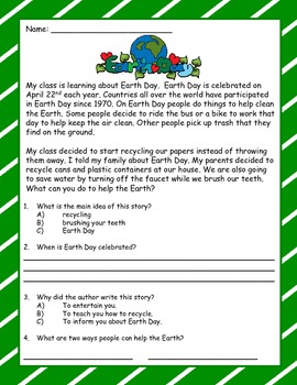 Earth Day Math and Language Activities