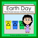 Earth Day Math and Literacy Activities Third Grade Distance Learning