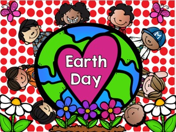 Earth Day Math and Literacy Center and Activity for Presch