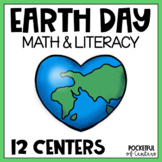 Earth Day Centers: Math & Literacy Activities for Pre-K & Kindergarten BUNDLE