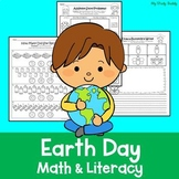 Earth Day Math and Literacy (Kindergarten, April Activities)
