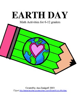 Earth Day Math for grades 6-12: Conversions, Graphs, and more!