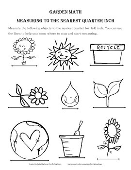 Earth Day Math in the Garden Common Core Word Problems, Measuring, Line Plots