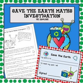 Earth Day Environmental Maths Problem Solving NO PREP AUS UK