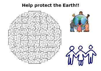 Earth Day Maze Puzzle - Help Protect the Earth
