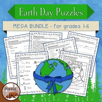 Earth Day Mega Bundle Puzzle Pack - for Multiple Grades and Homeschoolers