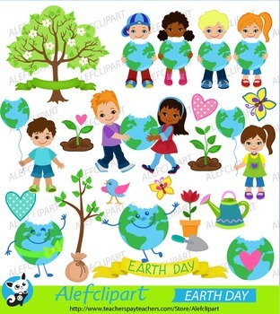 Earth Day Mega Pack of Clipart. Digital Clipart. Creative Clips.
