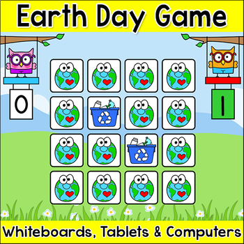 earth day memory matching game for tablets smartboards computers