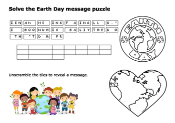 Earth Day Message Puzzle