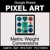 Earth Day: Metric Weight Conversions - Google Sheets Pixel Art