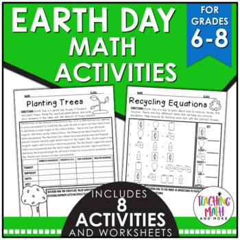 Earth Day Middle School Math Activities