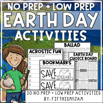 Earth Day Mini-Activity Pack / Editable Bingo Cards