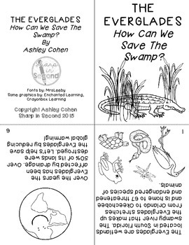 Earth Day Mini-Book & Writing Craftivity, Save The Swamp
