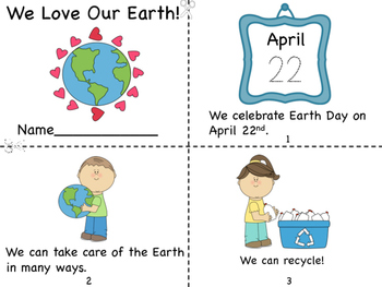 We Love Our Earth Mini Book and Coloring Pages by Miss P's ...