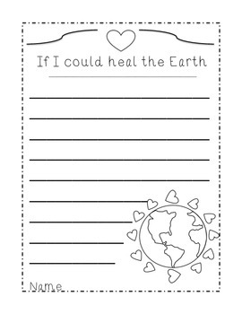 Earth Day Mini Booklet Primary Literacy Emergent Reader and Writing Paper