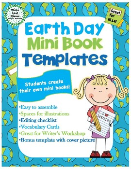 Earth Day Mini Books Template - with Vocabulary Cards