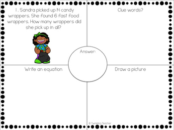 Earth Day Mini Bundle: One Step Word Problems