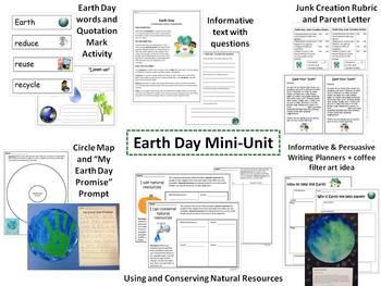 Earth Day Mini-Unit, Common-Core Aligned