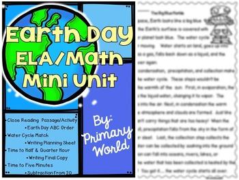 Earth Day Mini Unit ELA/Math