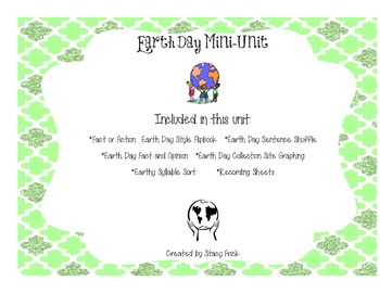 Earth Day Mini-Unit--Literacy and Math Activities