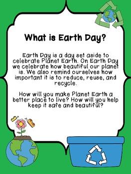 Earth Day Mini Unit: Writing and Math