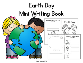 Earth Day Mini Writing Book