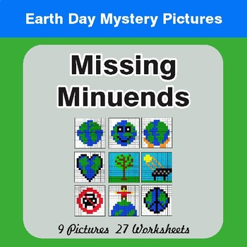 Earth Day: Missing Minuends - Color-By-Number Mystery Pictures