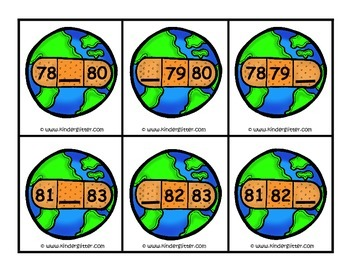 Earth Day Missing Numbers 1-100!