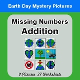 Earth Day: Missing Numbers Addition - Color-By-Number Myst